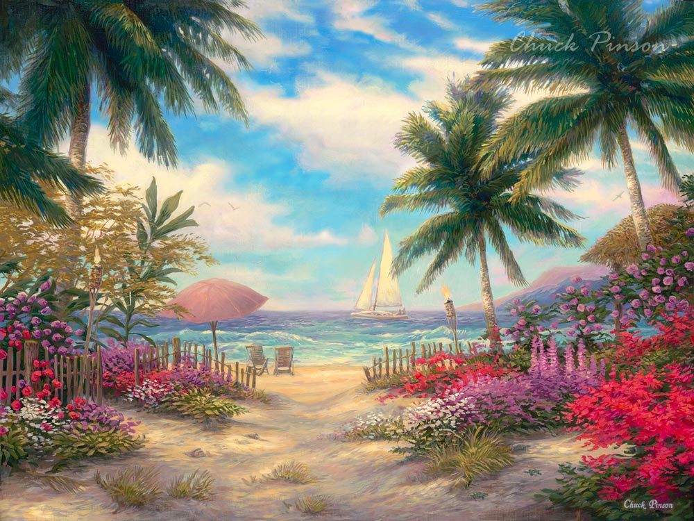 Beach Painting Tropical Paradise