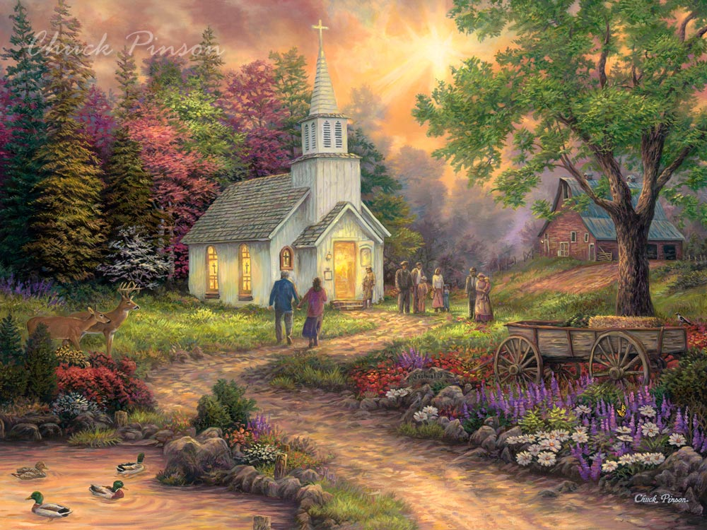 Christian church art decor