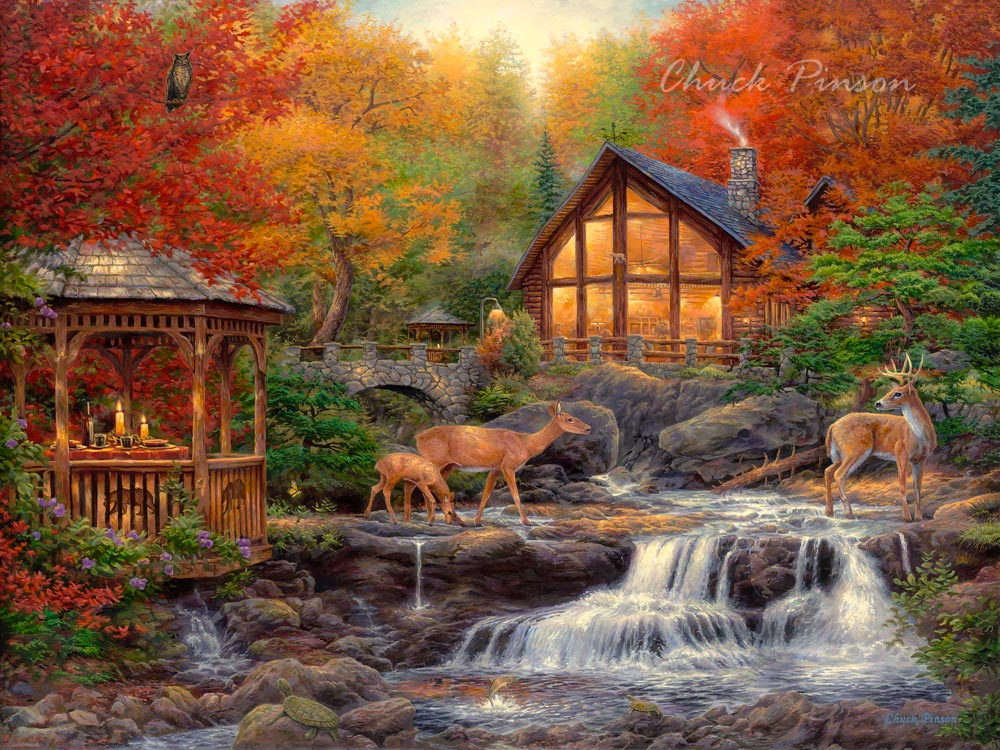 Wildlife Cabin Inspirational Art