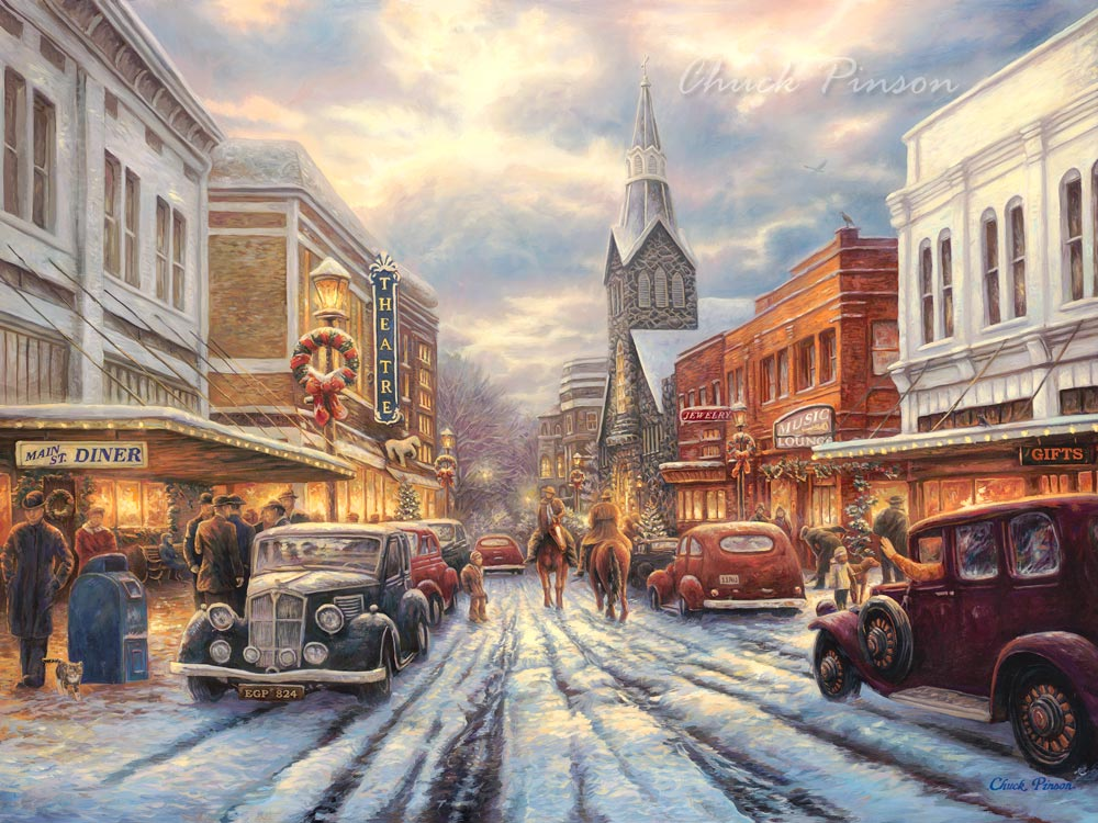 Christmas Town Square reasonable priced prints