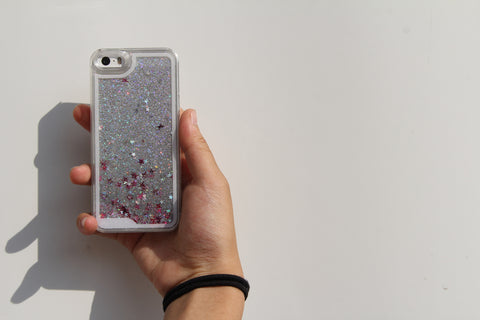 Glitter Silver iPhone Case