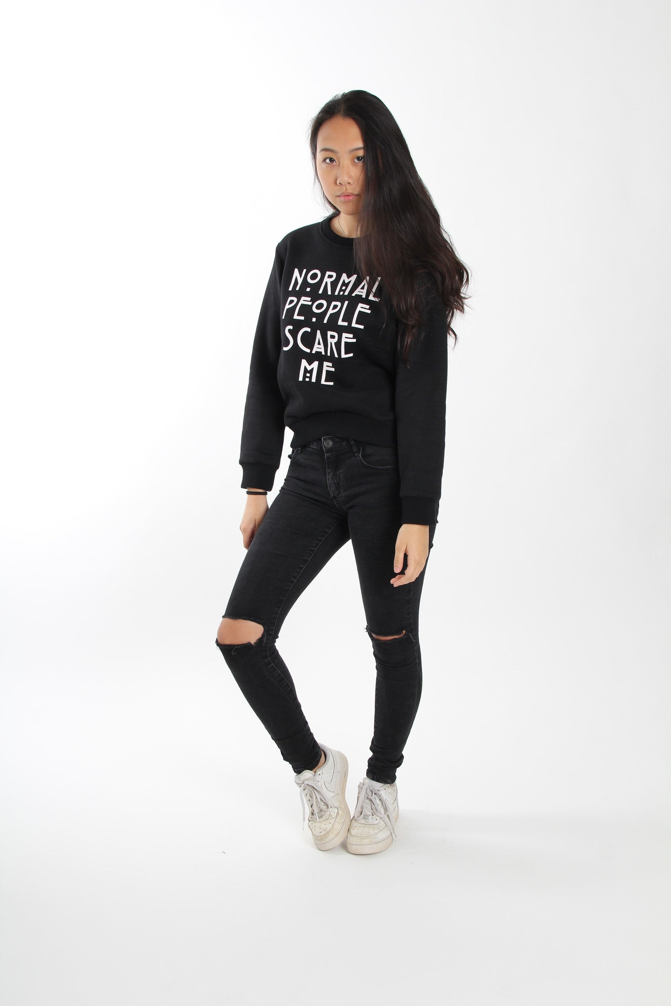 Normal People Scare Me Crewneck Sweater