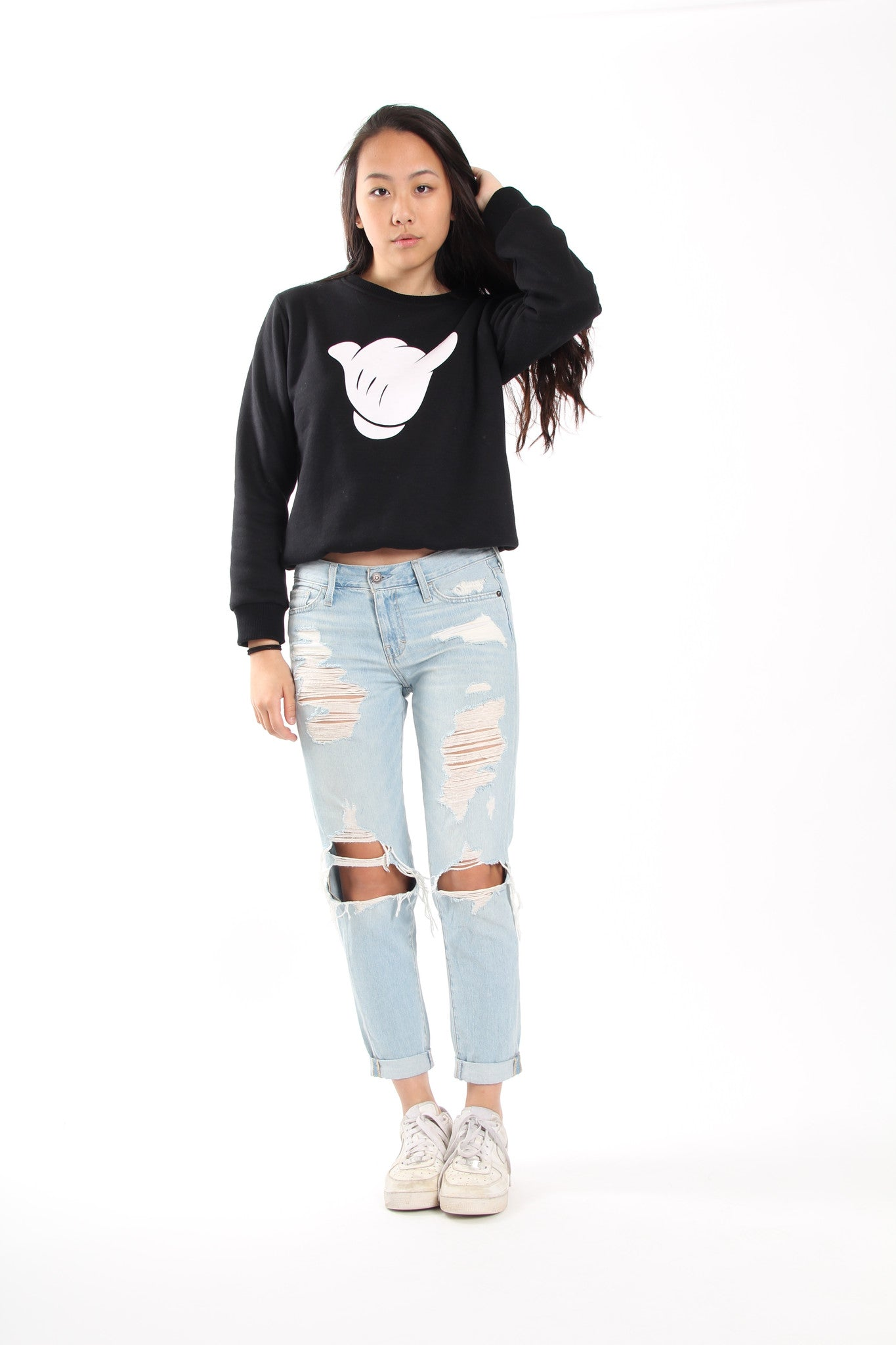 Hand Loose Crewneck Sweater