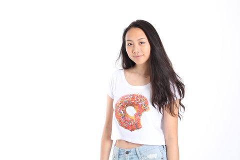 Donut Sleeved Crop Top