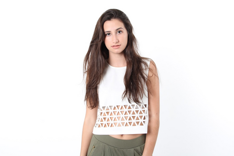 Triangle Cut Out Crop Top