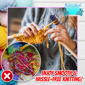 QuickStitch Knitting Thimble Yarn Guide