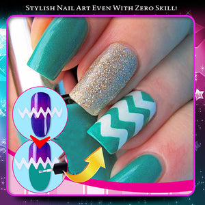 StickIT Fringe Tip Nail Sticker