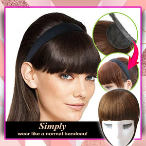 Insta Glam Braid & Bangs Headband