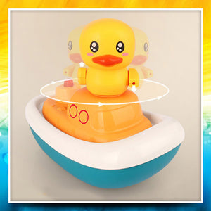 3-in-1 Bath Time Spinning Duck Boat