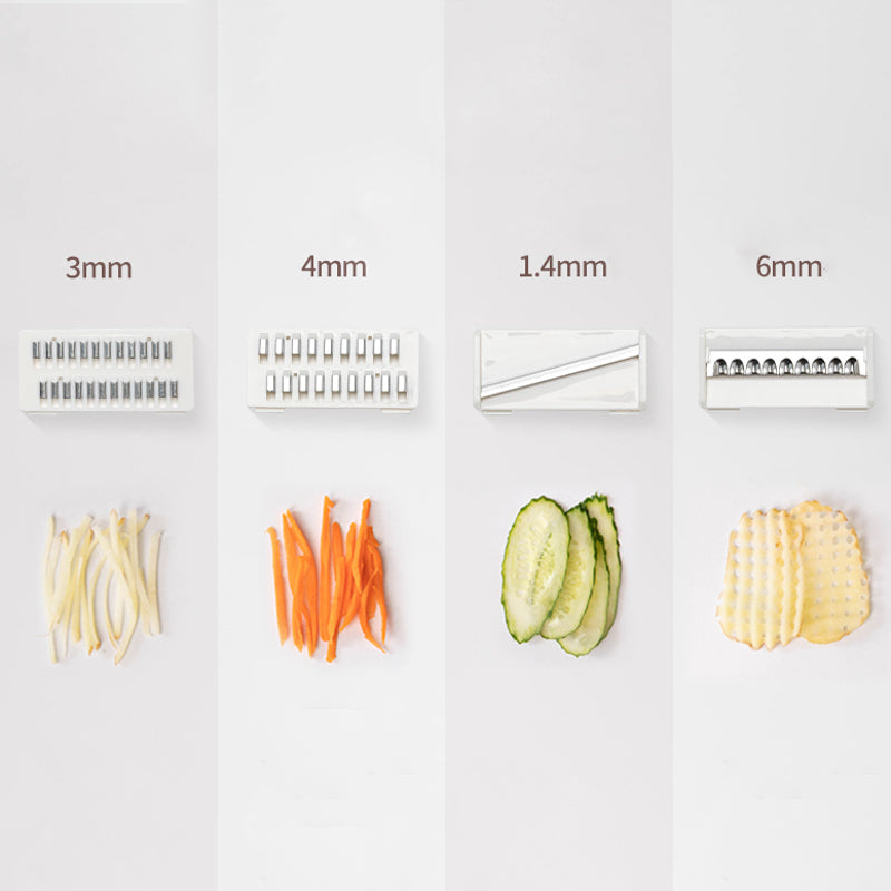 Length of the different blades of the Kiru Kitchen Slicer