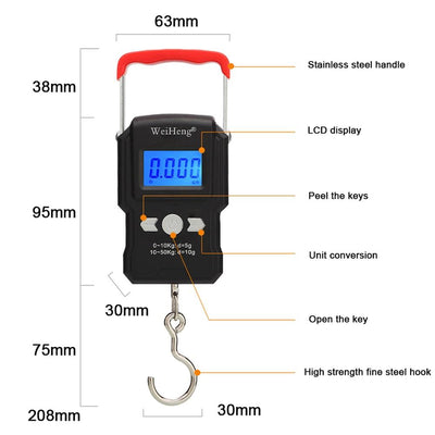 DigiScale™ Electronic Hook Weighing Scale-Thumble