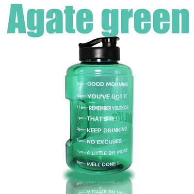 QuiFit™ </br> Time Stamped Water Bottle 100003293 Thumble 2500ML 2.5L 73oz Agate Green Bottle