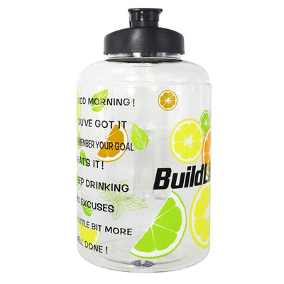 QuiFit™ </br> Time Stamped Water Bottle 100003293 Thumble 2500ML 2.5L 73oz Lemon Bottle