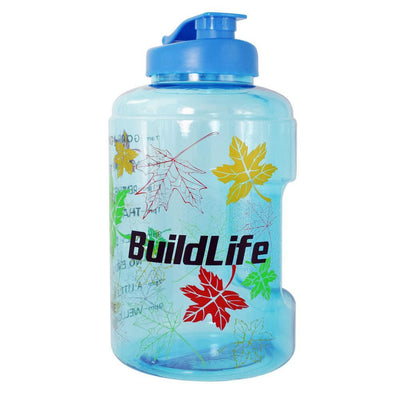 QuiFit™ </br> Time Stamped Water Bottle 100003293 Thumble 2500ML 2.5L 73oz Maple leaves Bottle