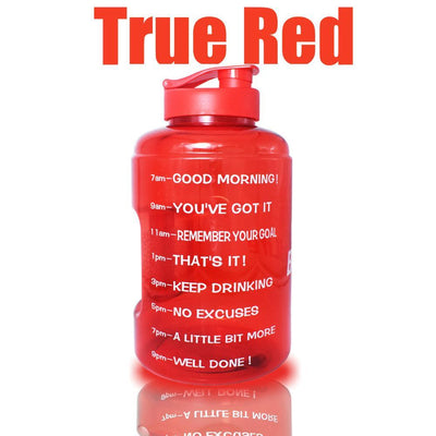 QuiFit™ </br> Time Stamped Water Bottle 100003293 Thumble 2500ML 2.5L 73oz Red Bottle