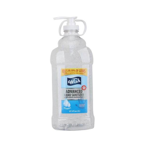 MS 60212 Wish Hand Sanitizer 2 liter | 67.6 oz with pump | 6 units | $12.99 ea.