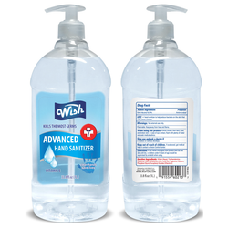 MS 60213 Wish Hand Sanitizer 1 Liter -33.8oz with pump (12 units) $8.00 ea.