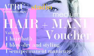 Voucher for Hairdressing and Manicure, medium hair at ATRU studio