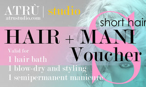 Short Hair Voucher for Hairdressing and Manicure