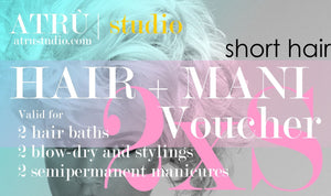 2 Short Hair Voucher for Hairdressing and Manicure