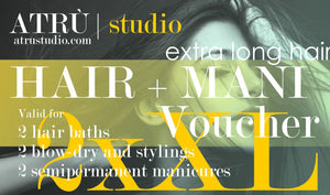 2 Very Long Hair Voucher for Hairdressing and Manicure