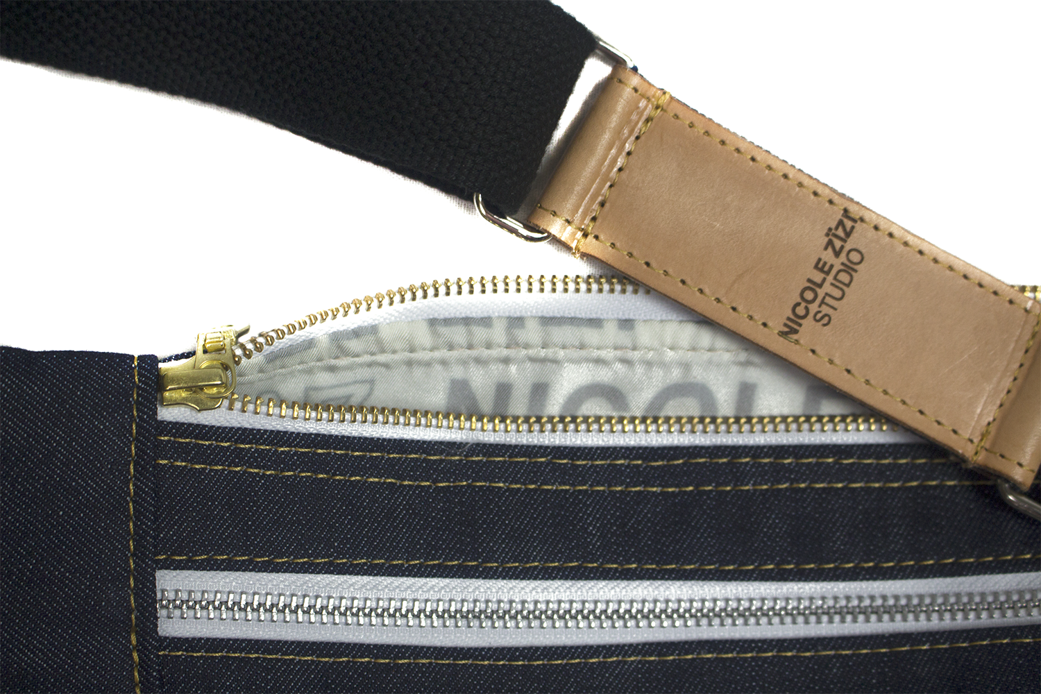 Recycled Plastic Denim Crossbody Bag