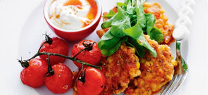 Chorizo & Toasted Corn Fritter with Smoked Paprika Dipping Sauce