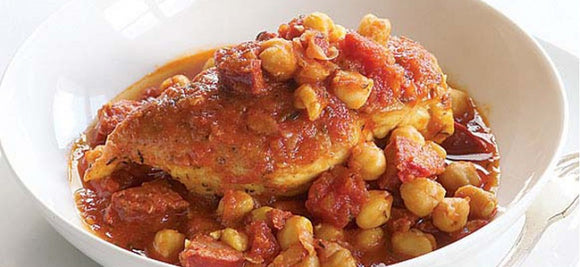 Spanish Chicken with Chickpeas & Chorizo