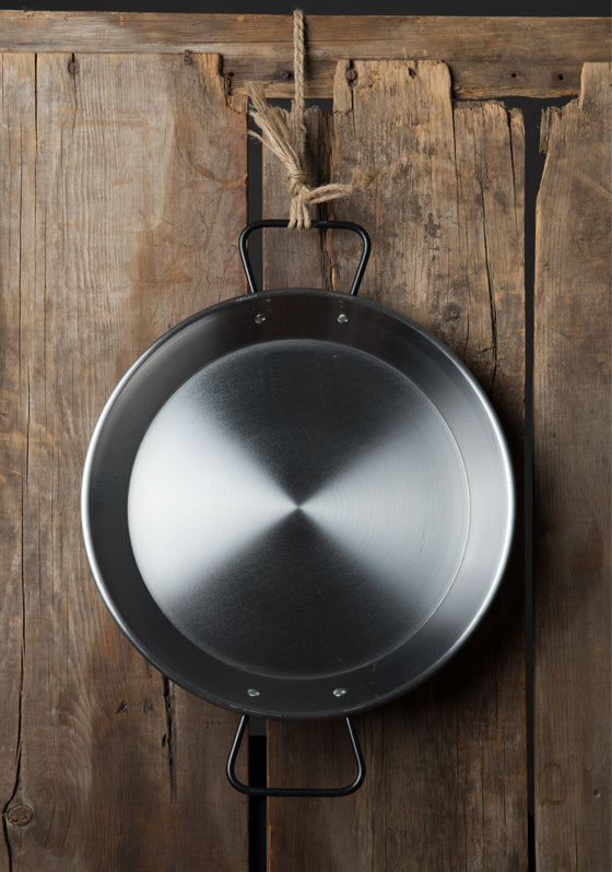 VAELLO Induction Double-Gauge Steel Paella Pan (30 cm)