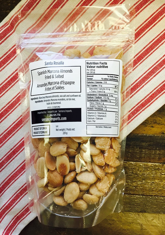 Santa Rosalia Marcona Almonds Fried & Salted (220 g)