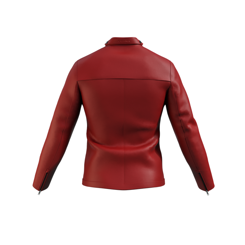 London Tab Nappa Leather Jacket - Red