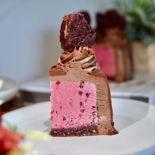 RED VELVET CHERRY ICE CREAM CAKE