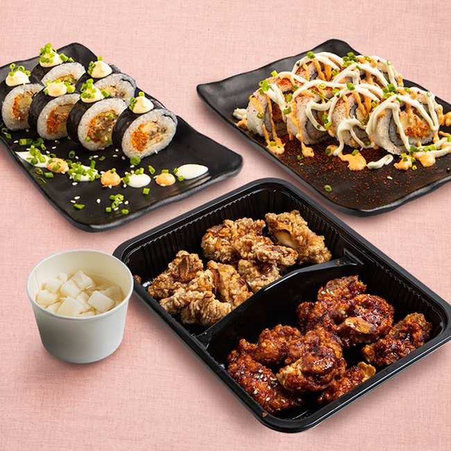 Fried Chicken & Gimbap KBBQ Party Kit