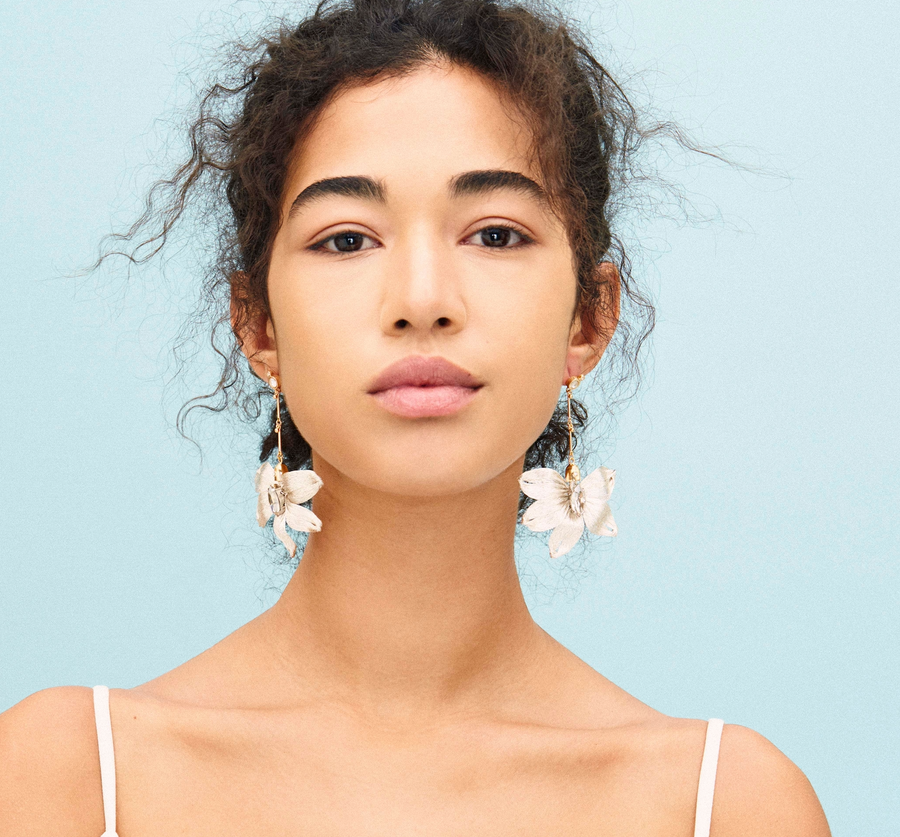 Mesh Dahlia Earrings - Dikkeni