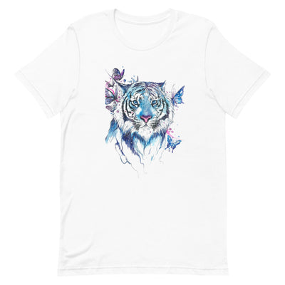 """Blue Tiger"" Short-Sleeve Unisex T-Shirt"