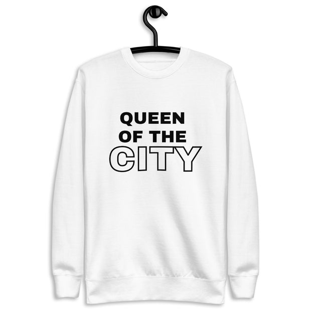 """Queen of the city"" Unisex Fleece Pullover"