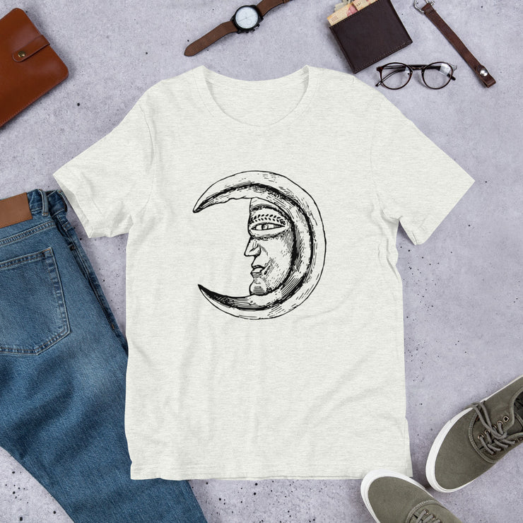 """Abstract Moon Face"" Short-Sleeve Unisex T-Shirt"