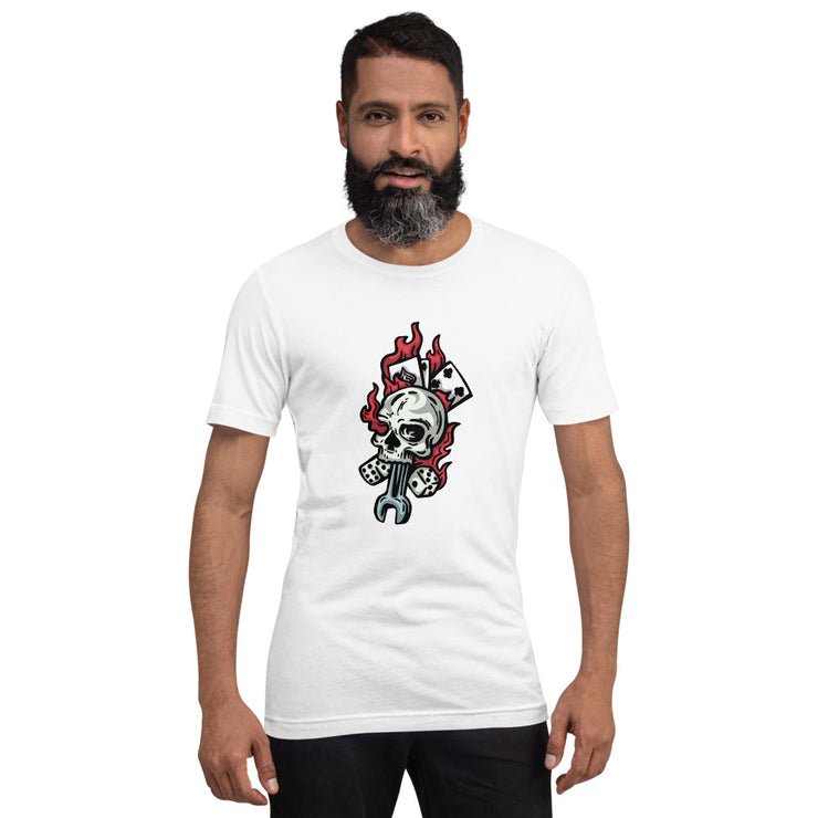 """Skull & Cards"" Short-Sleeve Unisex T-Shirt"