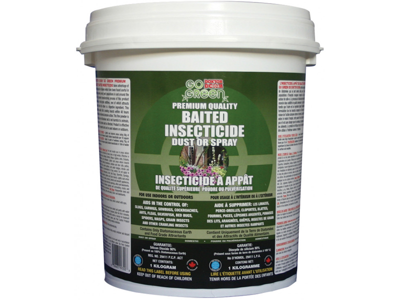 Doktor Doom - Premium Food Grade Diatomaceous Earth - for Bed Bugs, Ants, Cockroaches and All Kind of Crawling Insects. Easy to use with Plastic Container - 1 kg