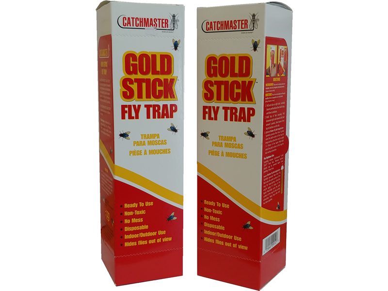 2pk - Fly Trap Gold Stick - These are long tubes with a sticky glue and fly pheromone attractant for capturing and killing house flies and other nuisance flies.
