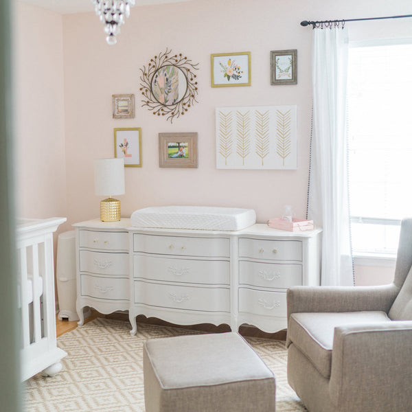 Nursery Feature | Layne's Soft Pink Baby Girl Room
