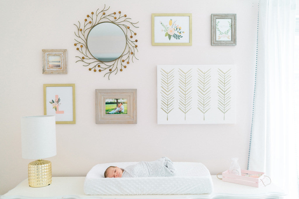Baby Girl Pink Nursery Feature