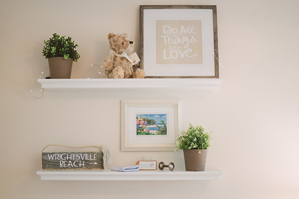 Neutral Nursery Shelves