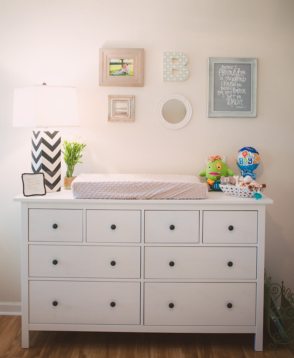 Neutral Nursery Changing Table