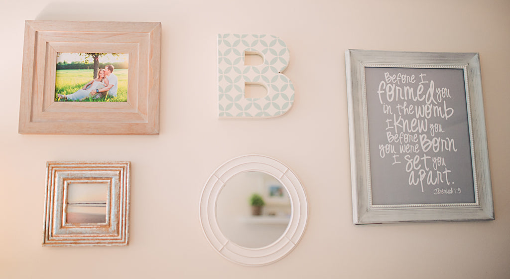 Neutral Nursery Photo Wall