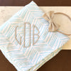 Personalized Herringbone Swaddle
