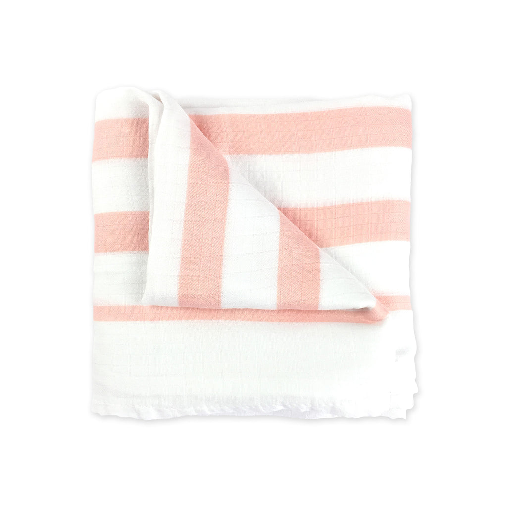 Coral Bamboo Muslin Swaddle