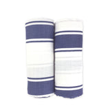2 Pack Blue Muslin Swaddles
