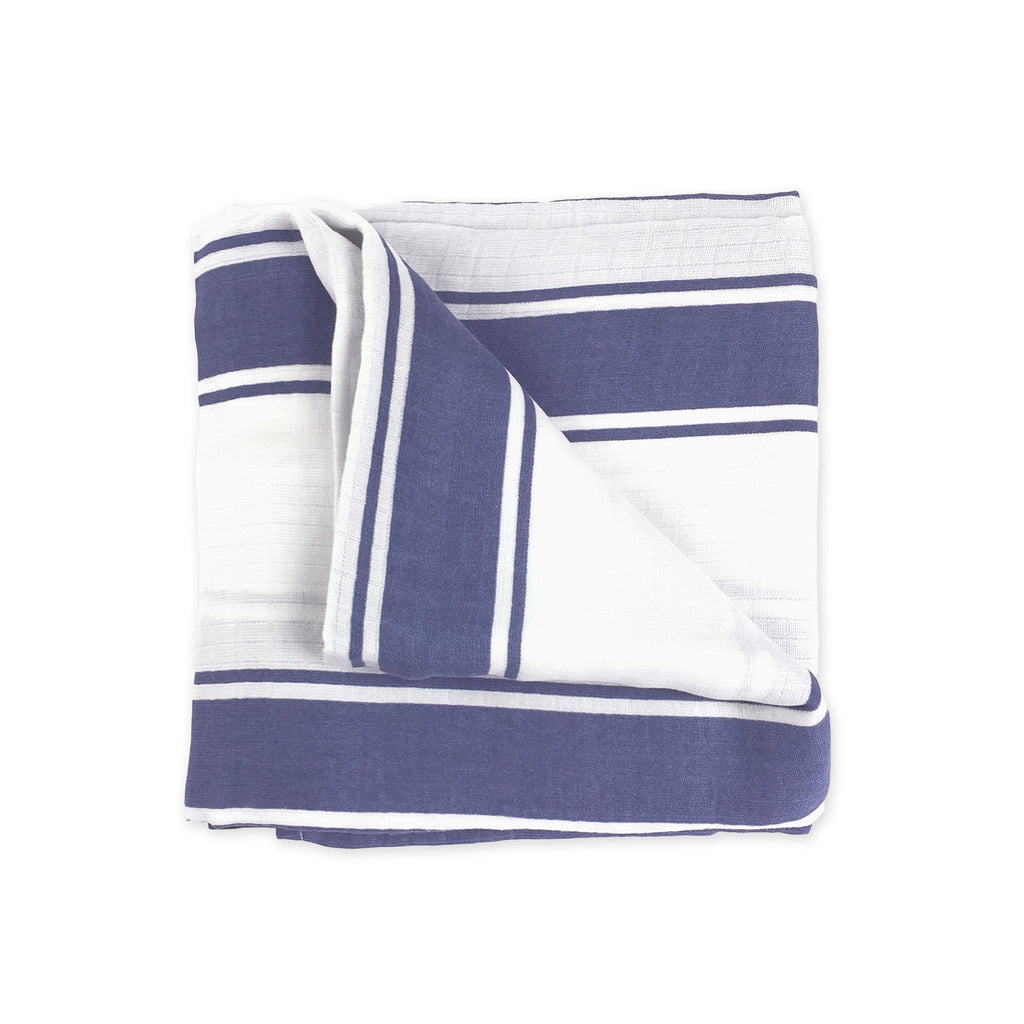 Blue Stripe Swaddle Blanket