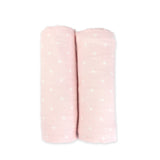 Pink Bamboo Muslin Swaddles